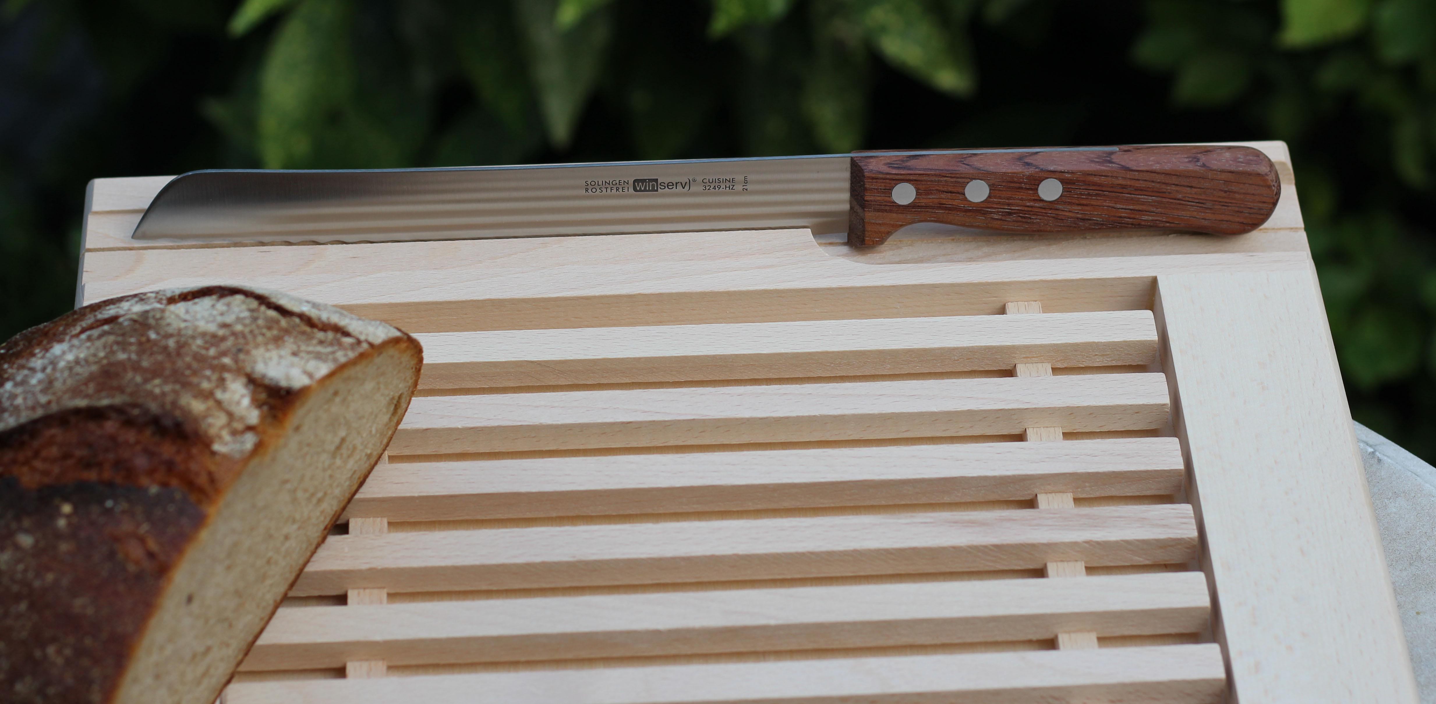Brotschneide-Set mit Holzbrett1832